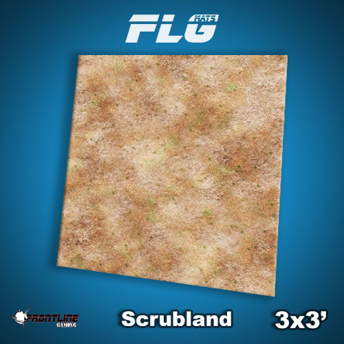 Frontline-Gaming FLG Mats: Scrubland 3x3'