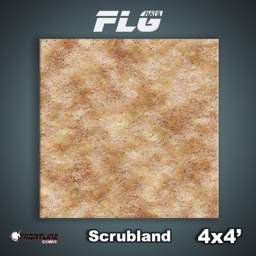Frontline Gaming FLG Mats: Scrubland 4x4'