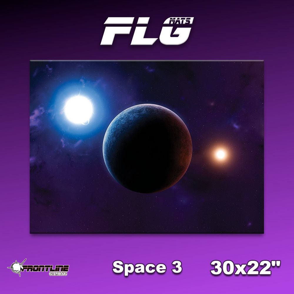 "Frontline Gaming FLG Mats: Space 3 30"" x 22"""