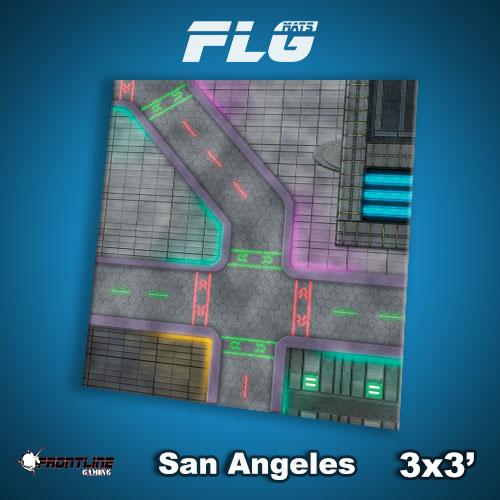 Frontline-Gaming FLG Mats: San Angeles 3x3'