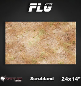 "Frontline Gaming FLG Mats: Scrubland 24"" x 14"""