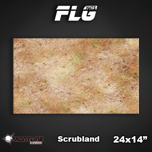 "Frontline Gaming FLG Mats: Scrubland 24"" x 14"""