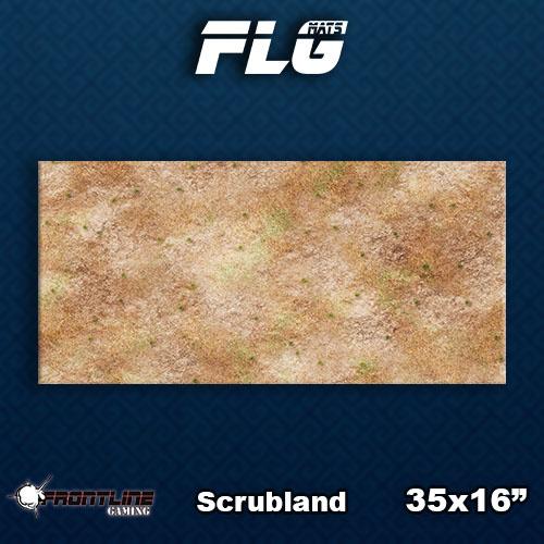 Frontline-Gaming FLG Mats: Scrubland Desk Mat