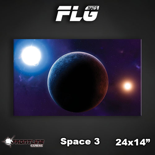 "Frontline-Gaming FLG Mats: Space 3 24"" x 14"""