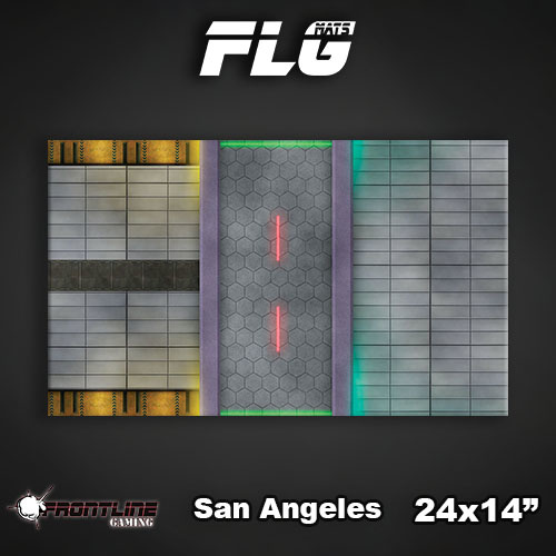 "Frontline-Gaming FLG Mats: San Angeles 24"" x 14"""