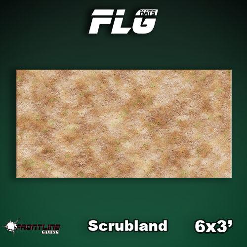 Frontline-Gaming FLG Mats: Scrubland 6x3'