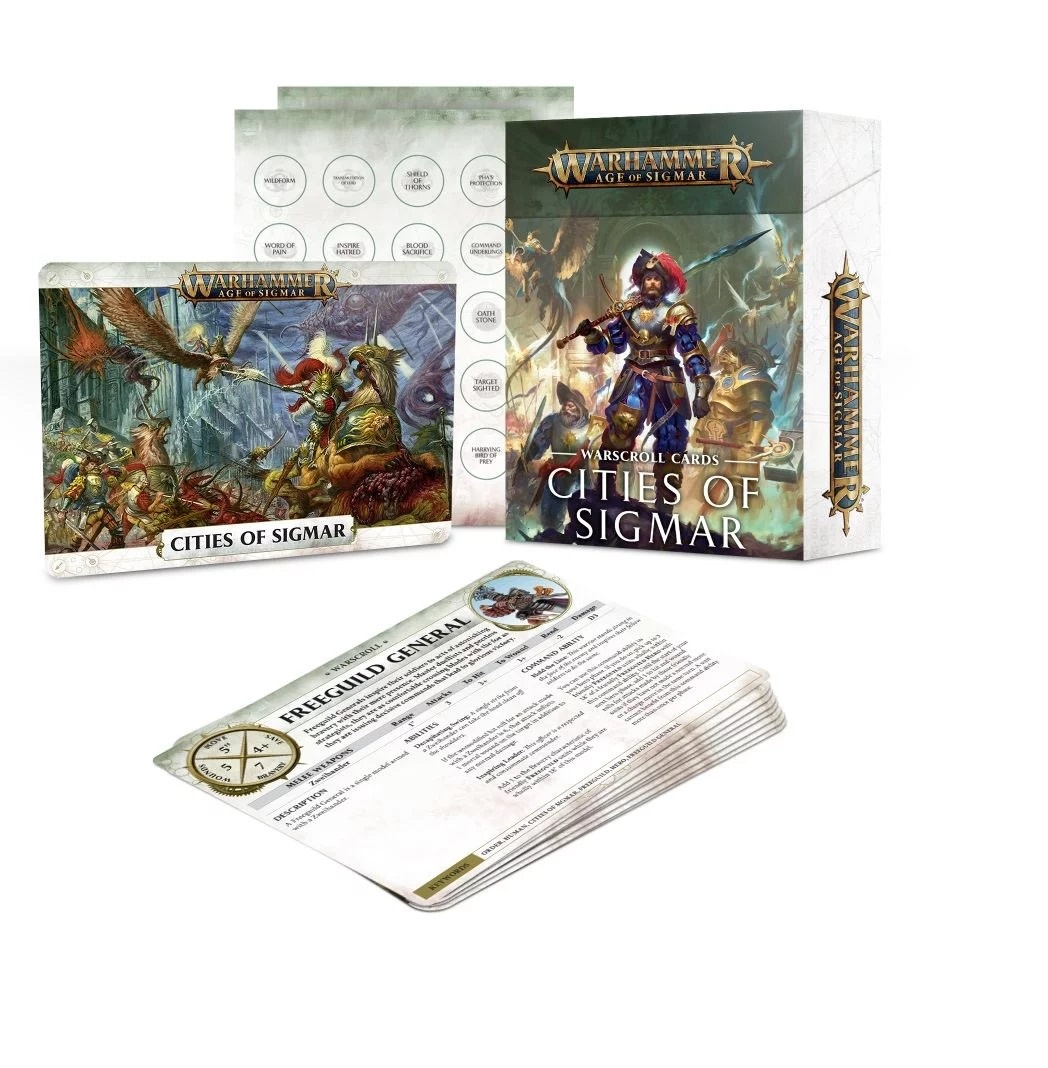 Games Workshop Warscroll Cards: Cities of Sigmar