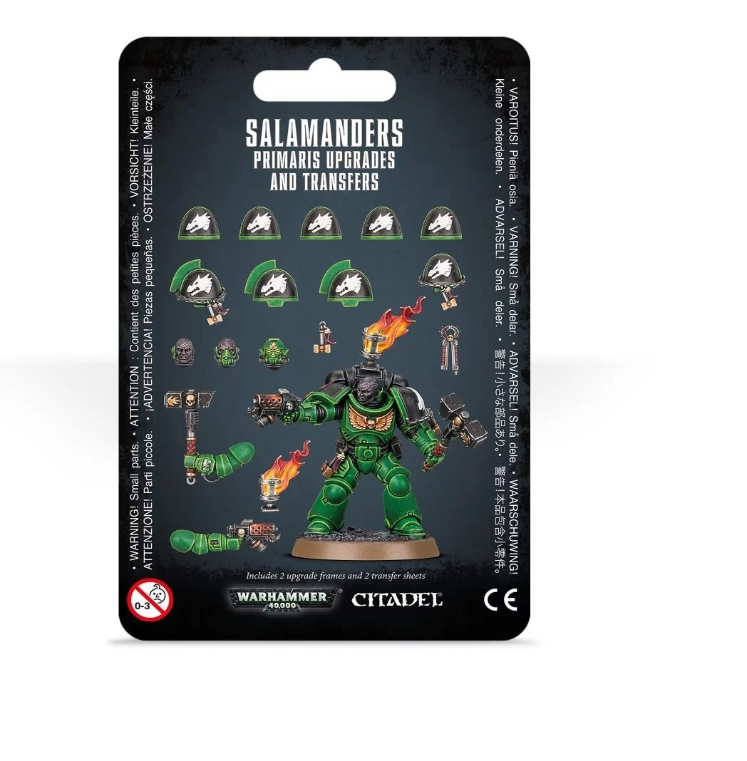 Games Workshop Salamanders Primaris Upgrades and Transfers