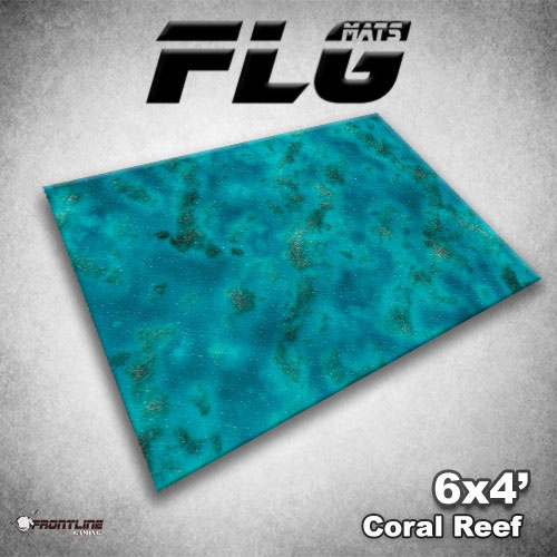 Frontline Gaming FLG Mats: Coral Reef 6x4'
