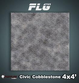Frontline Gaming FLG Mats: Civic Cobblestone 4x4'