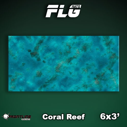 Frontline Gaming FLG Mats: Coral Reef 6x3'