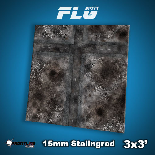 Frontline Gaming FLG Mats: 15mm Stalingrad 3x3'