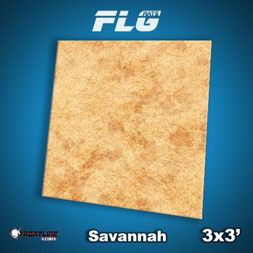 Frontline Gaming FLG Mats: Savannah 3x3'