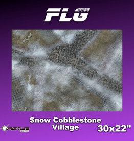 "Frontline Gaming FLG Mats: Snow Cobblestone Village 30"" x 22"""