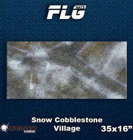 Frontline Gaming FLG Mats: Snow Cobblestone Village Desk Mat
