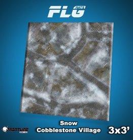 Frontline Gaming FLG Mats: Snow Cobblestone Village 3x3'