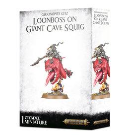 Games Workshop Gloomspite Gitz, Loonboss on Giant Cave Squig