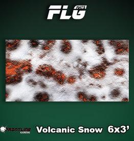 Frontline-Gaming FLG Mats: Volcanic Snow 6x3'