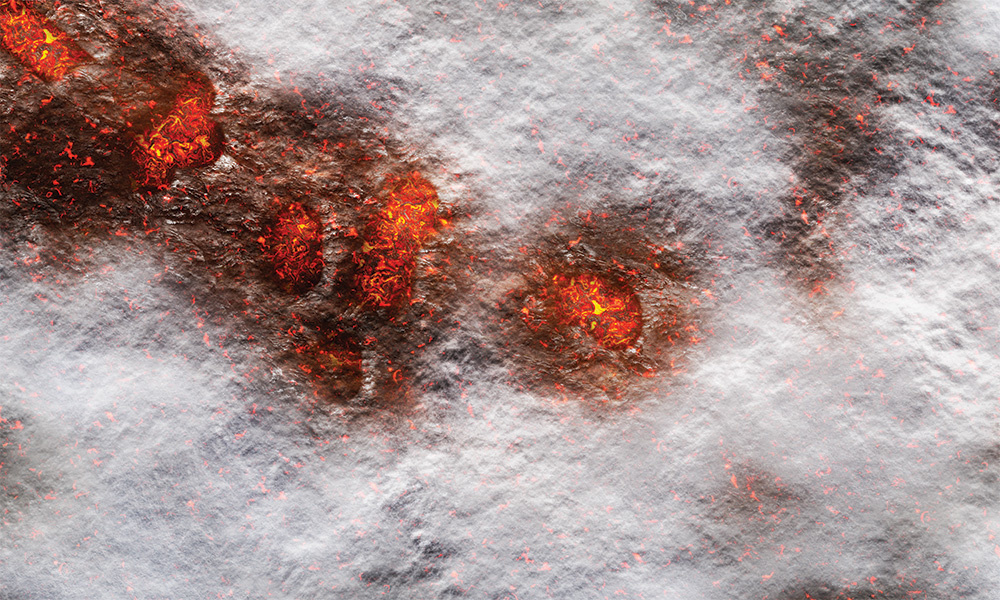 Frontline-Gaming FLG Mats: Volcanic Snow Desk Mat