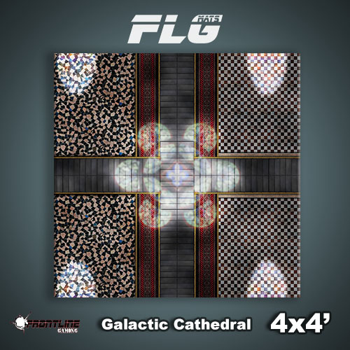 Frontline-Gaming FLG Mats: Galactic Cathedral 4x4'