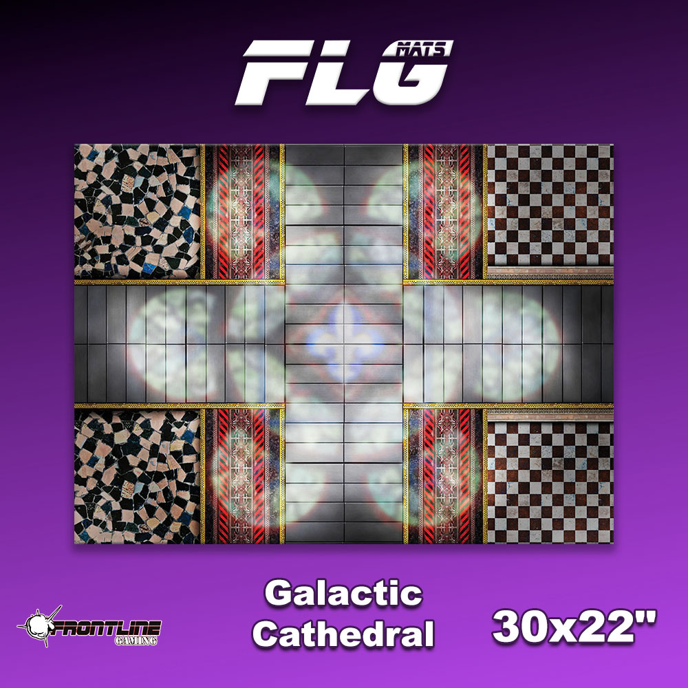 "Frontline-Gaming FLG Mats: Galactic Cathedral 30"" x 22"""