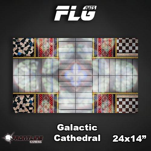 "Frontline-Gaming FLG Mats: Galactic Cathedral 24"" x 14"""