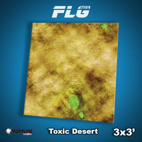 Frontline-Gaming FLG Mats: Toxic Desert 3x3'