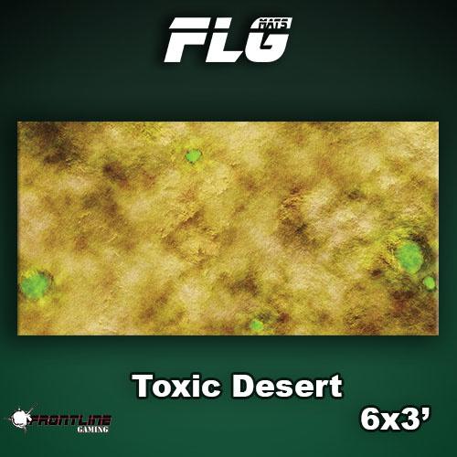 Frontline-Gaming FLG Mats: Toxic Desert 6x3'
