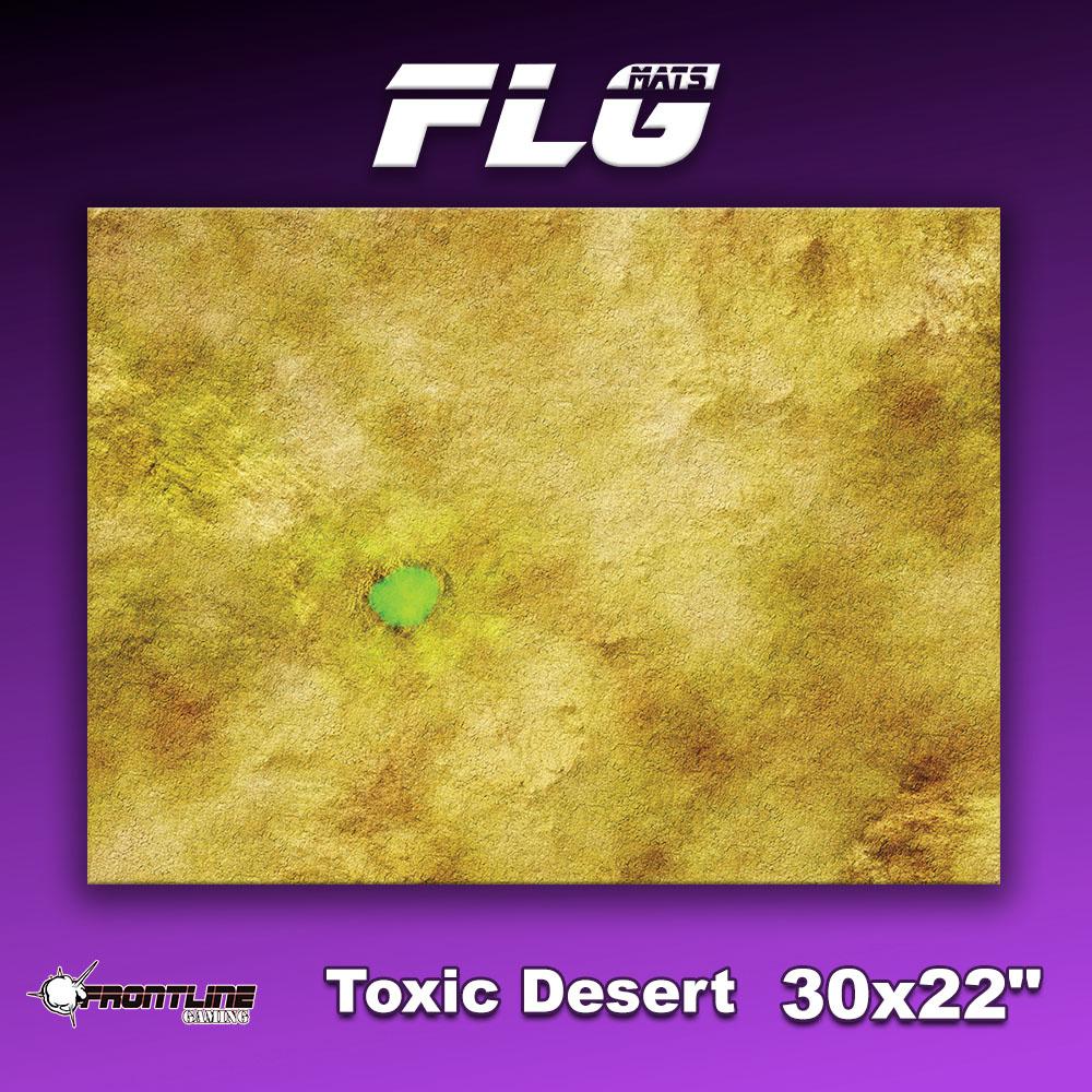 """Frontline-Gaming FLG Mats: Toxic Desert 30"""" x 22"""""""
