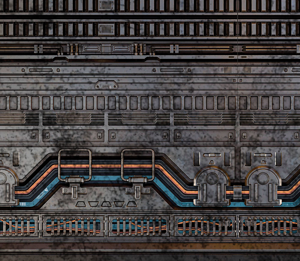 Frontline-Gaming FLG Mats: Industrial 2 6x4'