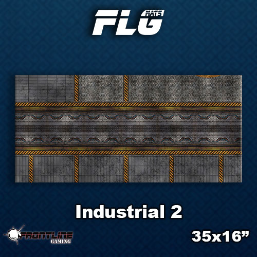 Frontline-Gaming FLG Mats: Industrial 2 Desk Mat