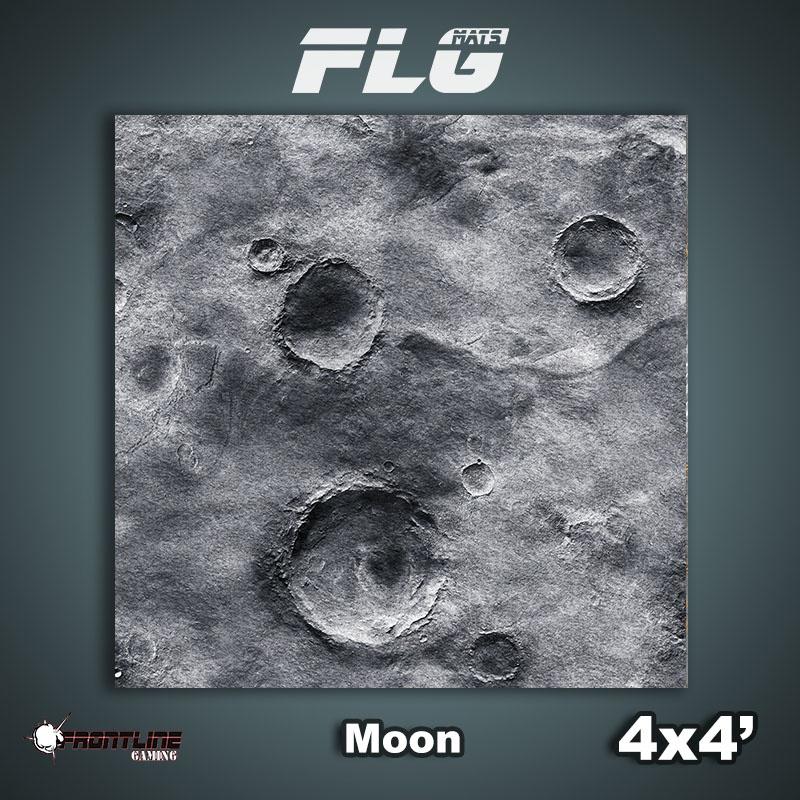 Frontline-Gaming FLG Mats: Moon 4x4'