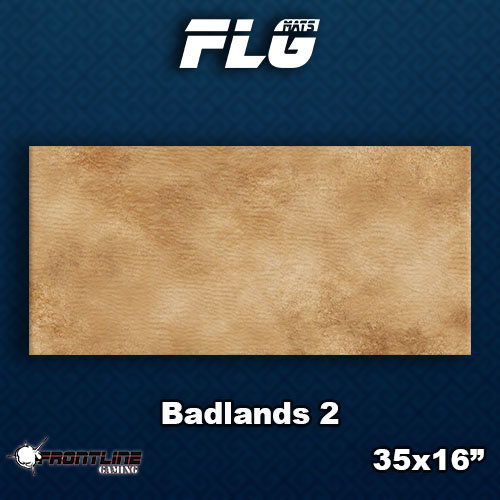 Frontline-Gaming FLG Mats: Badlands 2 Desk Mat