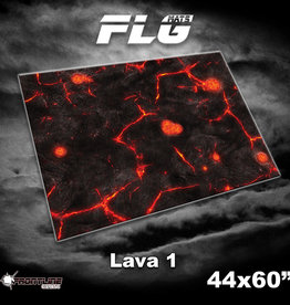 "Frontline-Gaming FLG Mats: Lava 1 44"" x 60"""
