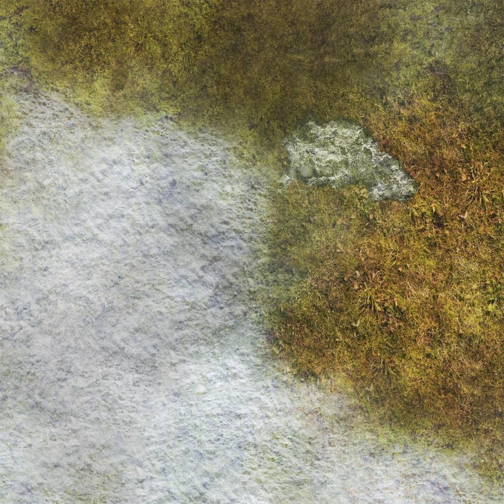 "Frontline-Gaming FLG Mats: Snow Covered Tundra 1 44"" x 60"""