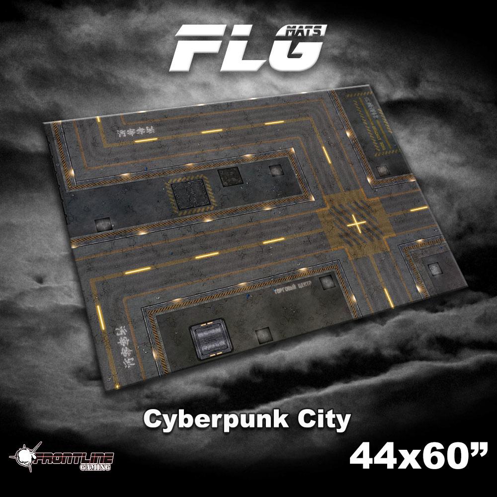"Frontline-Gaming FLG Mats: Cyberpunk City 1 44"" x 60"""