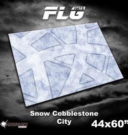 "Frontline-Gaming FLG Mats: Snow Covered Cobblestone City 44"" x 60"""