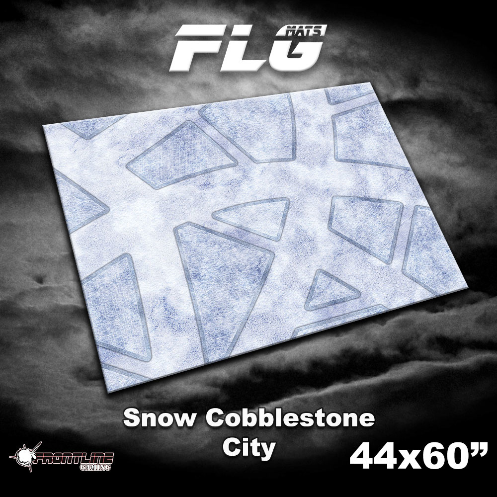 "Frontline-Gaming FLG Mats: Snow Covered Cobblestone City 44"" x 60"""