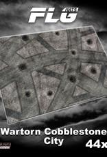 "Frontline-Gaming FLG Mats: War-torn Cobblestone City 44"" x 60"""