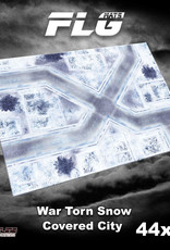 """Frontline-Gaming FLG Mats: War-torn Snow Covered City 44"""" x 60"""""""
