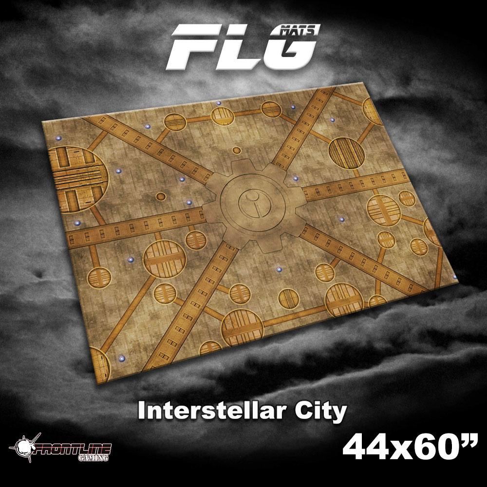 """Frontline-Gaming FLG Mats: Interstellar City 44"""" x 60"""""""