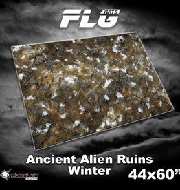 "Frontline-Gaming FLG Mats: Ancient Alien Ruins Winter 44"" x 60"""