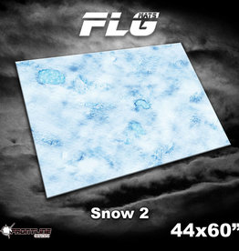 "Frontline-Gaming FLG Mats: Snow 2 44"" x 60"""