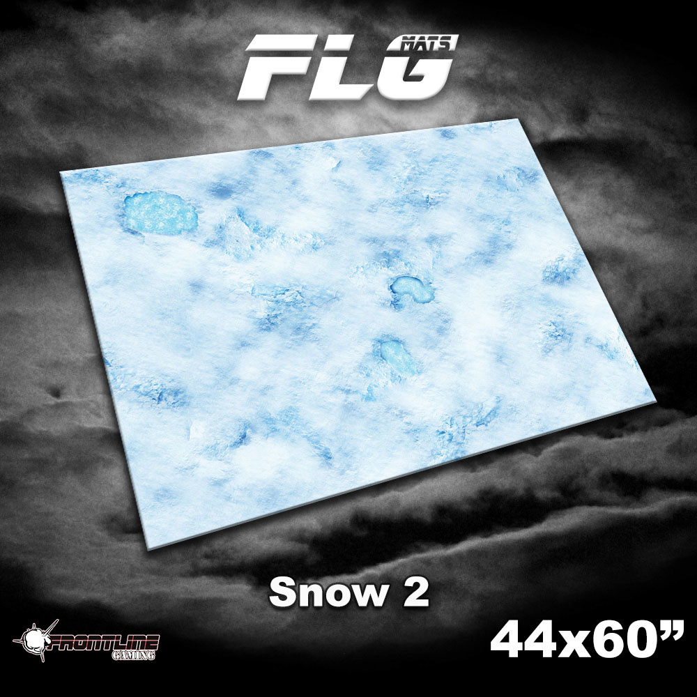 "Frontline-Gaming FLG Mats: Snow 2 44"" x 60"""