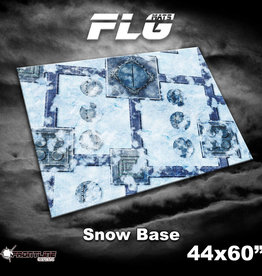 "Frontline-Gaming FLG Mats: Snow Base 44"" x 60"""