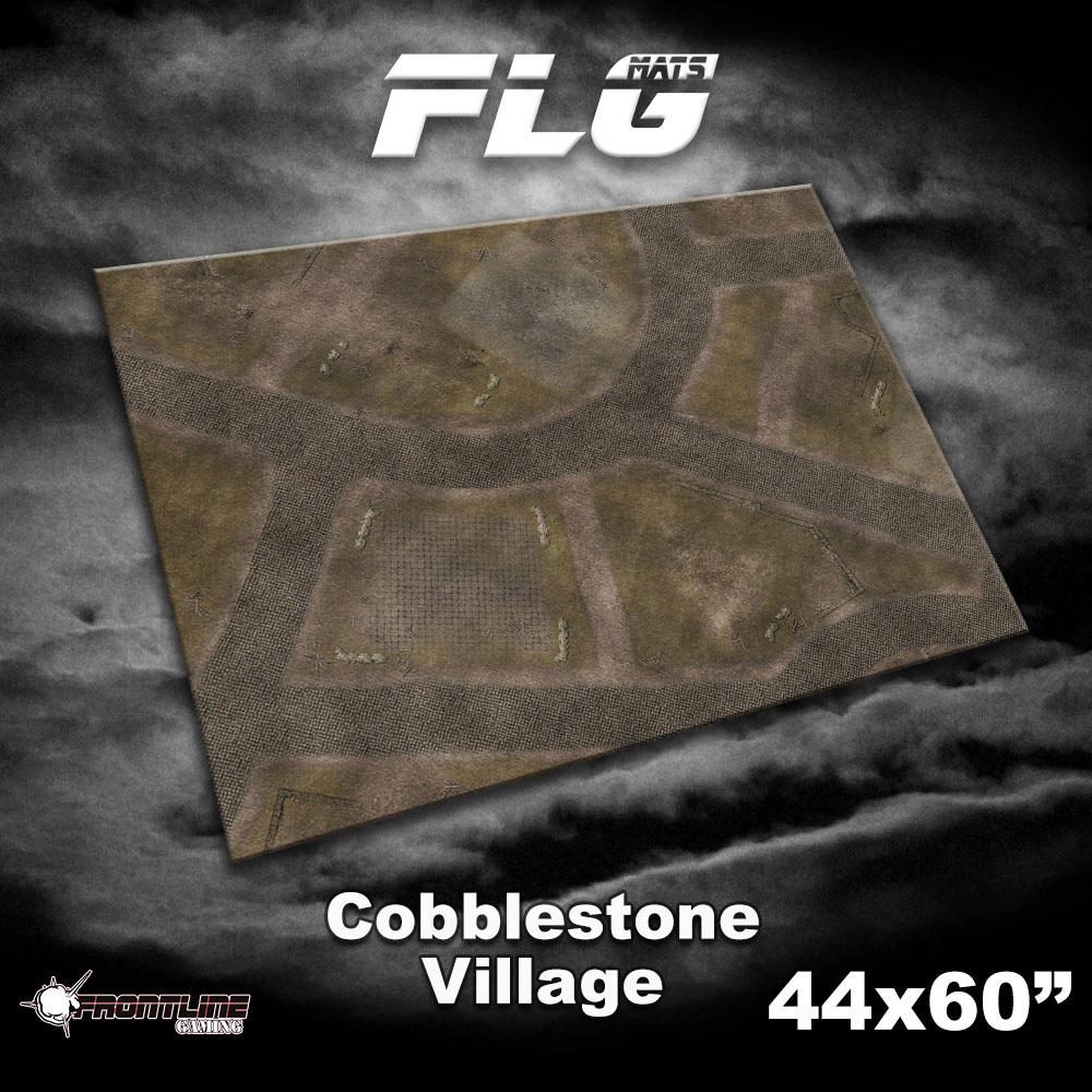"Frontline-Gaming FLG Mats: Cobblestone Village 44"" x 60"""