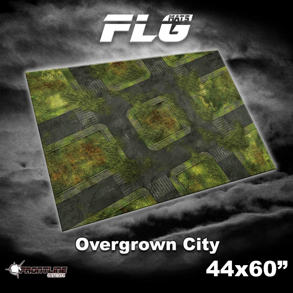 "Frontline-Gaming FLG Mats: Overgrown City 44"" x 60"""
