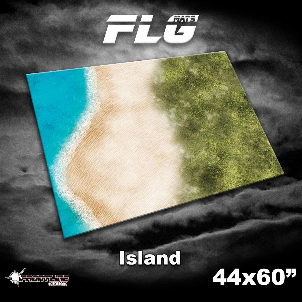 "Frontline-Gaming FLG Mats: Island 44"" x 60"""
