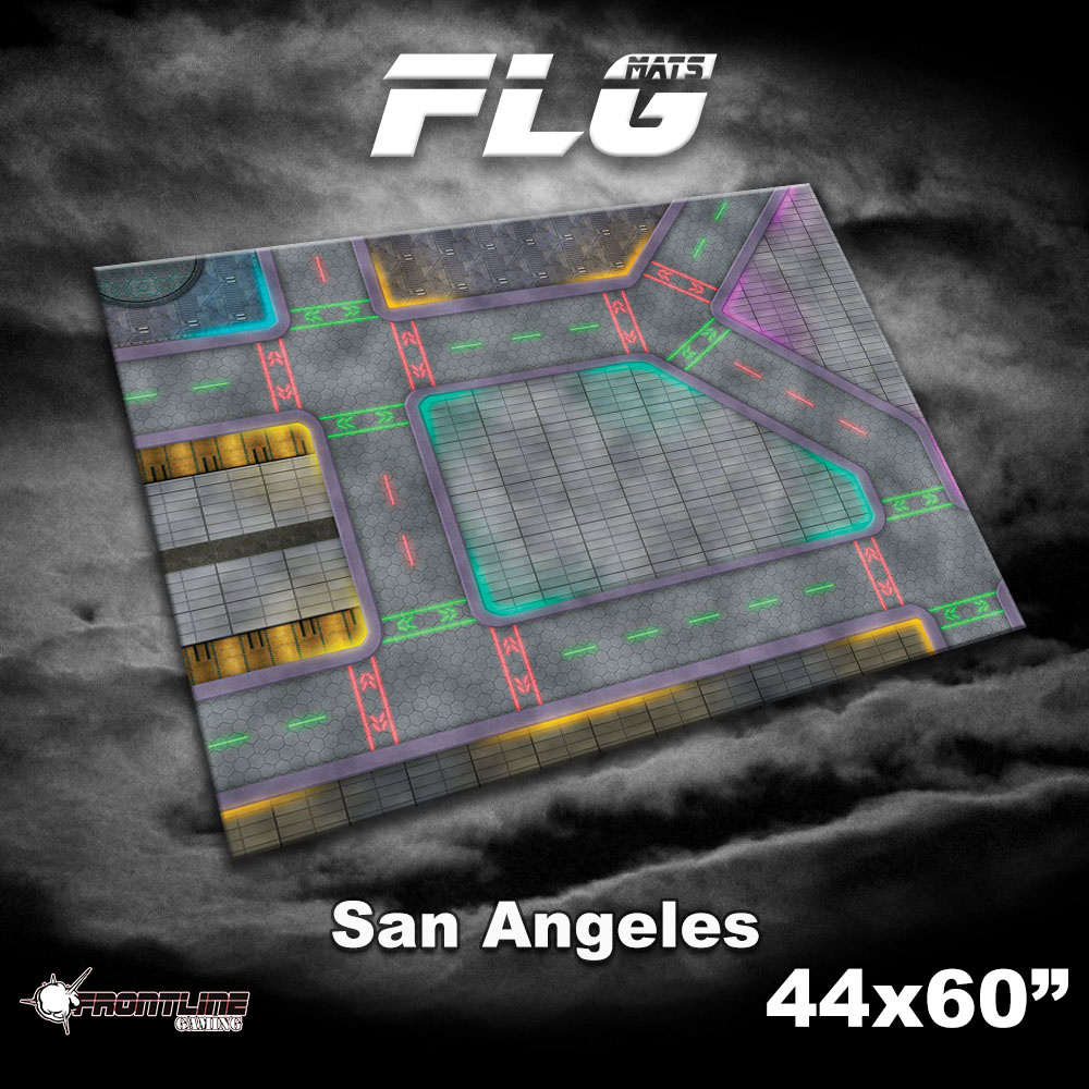 "Frontline-Gaming FLG Mats: San Angeles 44"" x 60"""