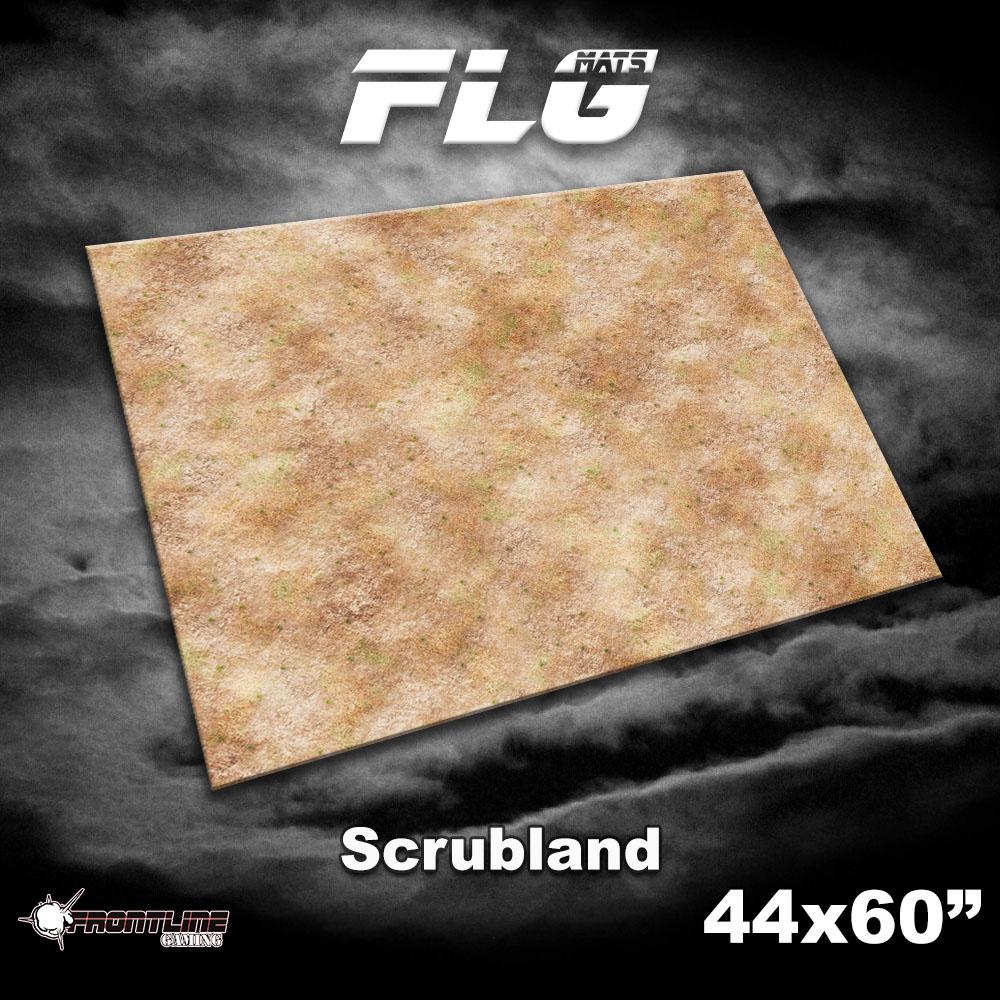 "Frontline-Gaming FLG Mats: Scrubland  44"" x 60"""